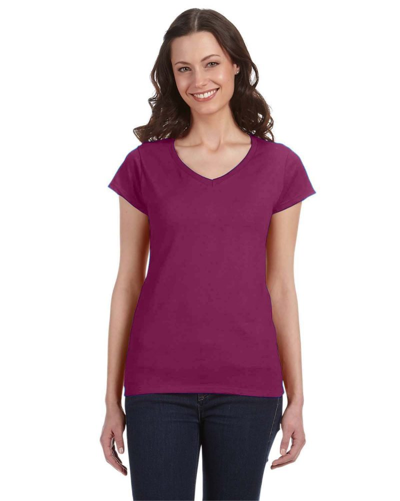 gildan-64v00l-softstyle-ladies-vneck