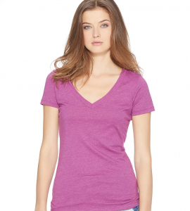 Next Level Ladies Cotton Poly Deep Vneck 6640